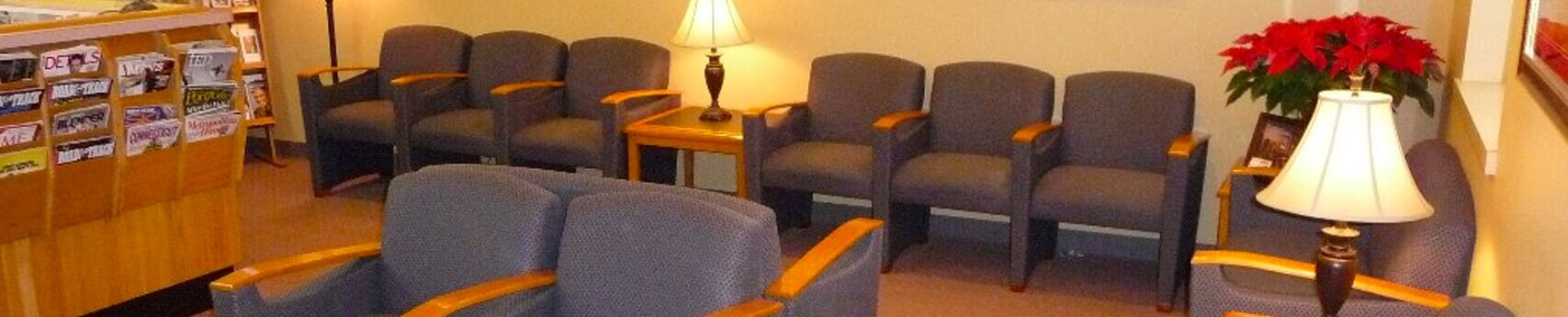 Patient Waiting Room at Wolcott Smiles